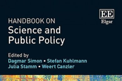 "The cover of the new ""Hanbook on Science and Public Policy"""